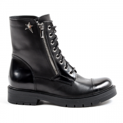 Andrew Charles Womens Short Boot Black KARMA