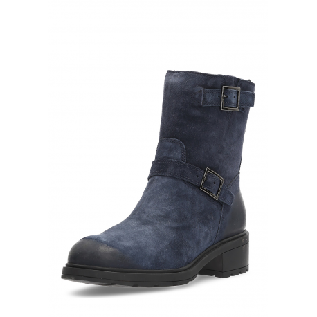 Hogan Womens Short Boot Dark Blue HXW0830O14066S1U810