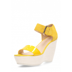Hogan Womens Wedge Sandal Yellow HXW2000H7900NNG013