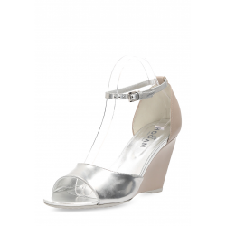 Hogan Womens Wedge Sandal Silver HXW2270N6606D699D6