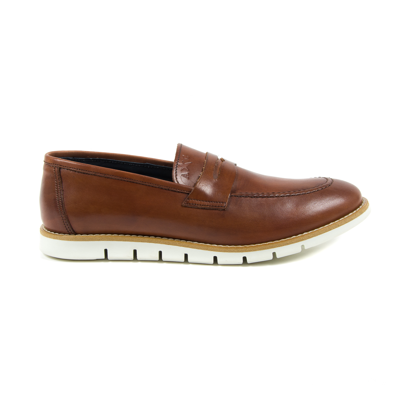 Andrew Charles Mens Loafer Brown SEAN Marrone 43