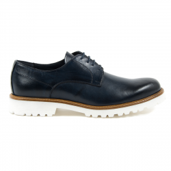Andrew Charles Mens Classic Shoe Blue DAVE